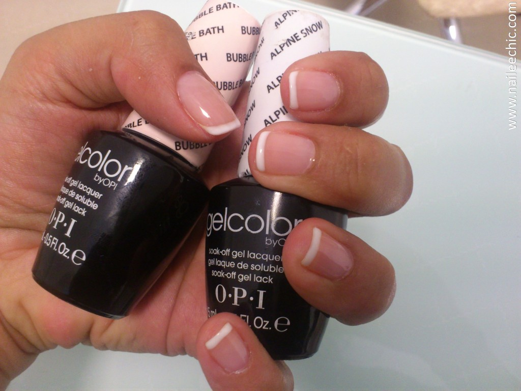 bubble bath y alpine snow gel color opi