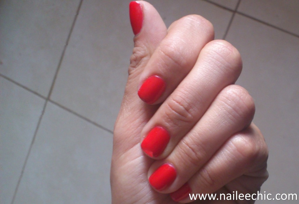big apple red opi gel color